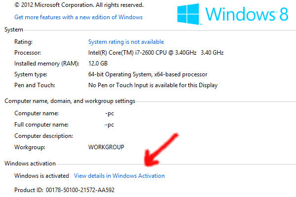 win 8 product code