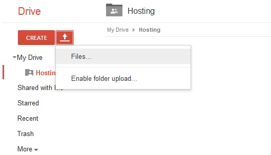 google drive setting