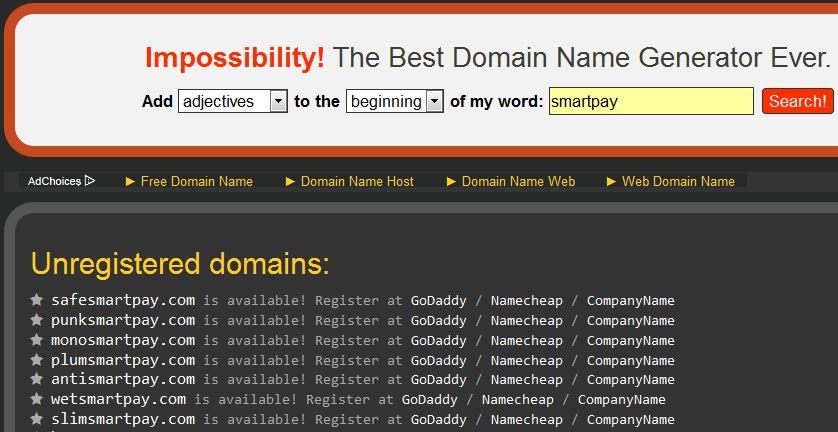 top 10 domain search engine