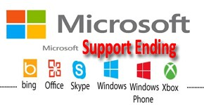 Microsoft Product & Services Support Ending Dates
