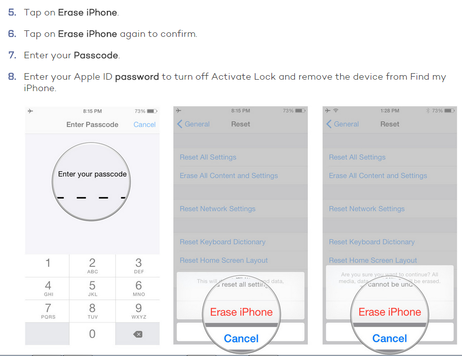 Erase data from your iPhone to sell