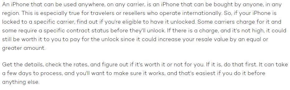 unlocking old iphone