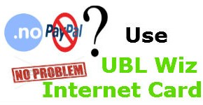 UBL internet card vs PayPal